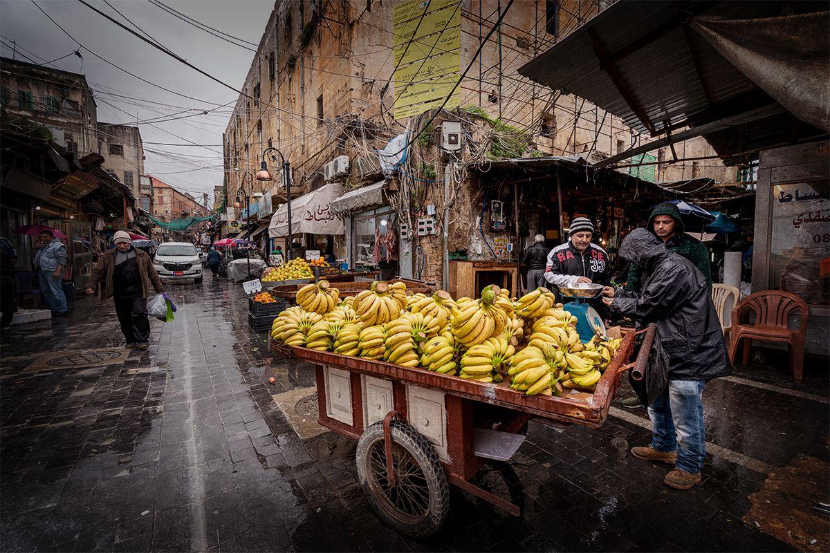Banana seller of Sidon Souk