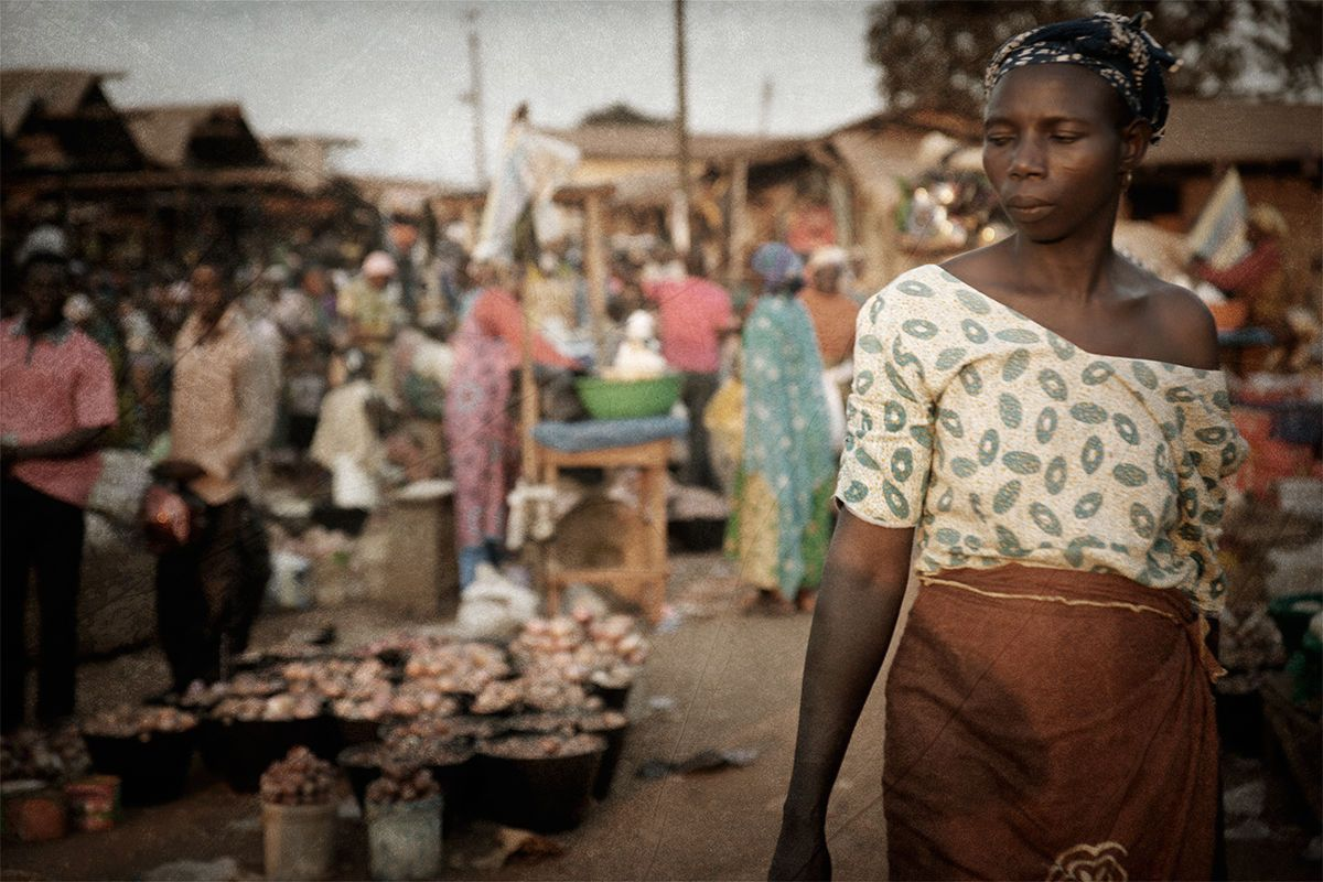 Woman at a market