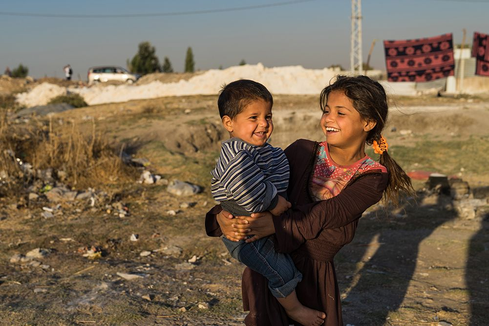 Syrian refugee siblings