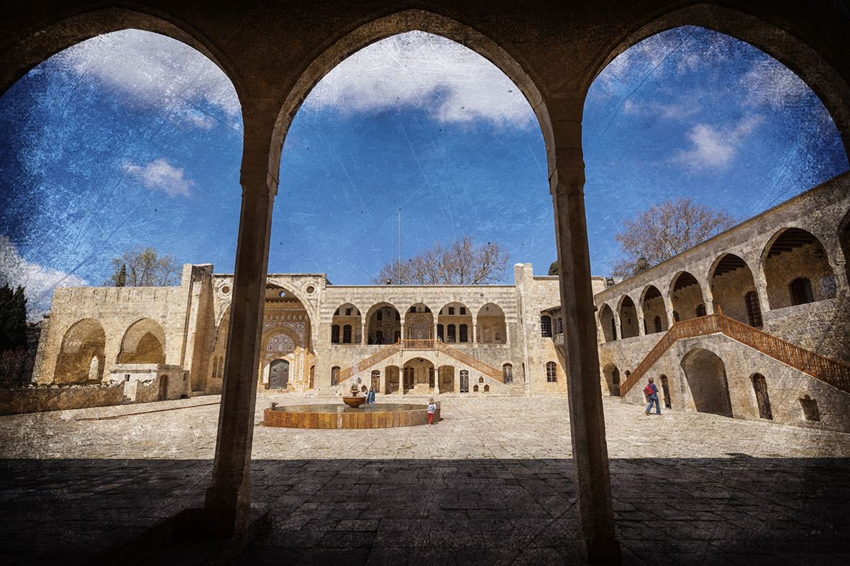 Beiteddine Palace inner courtyard