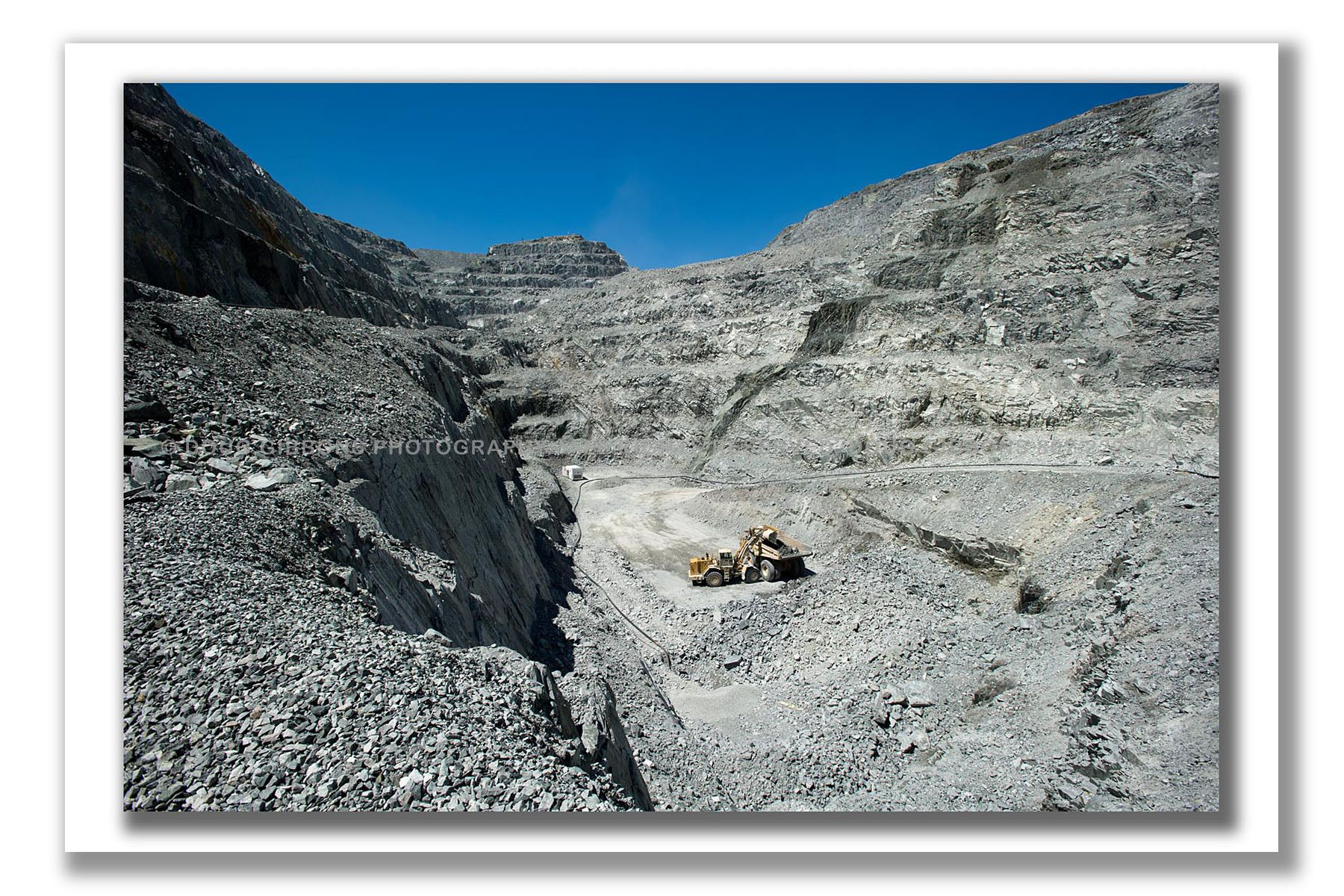Working in the open pit