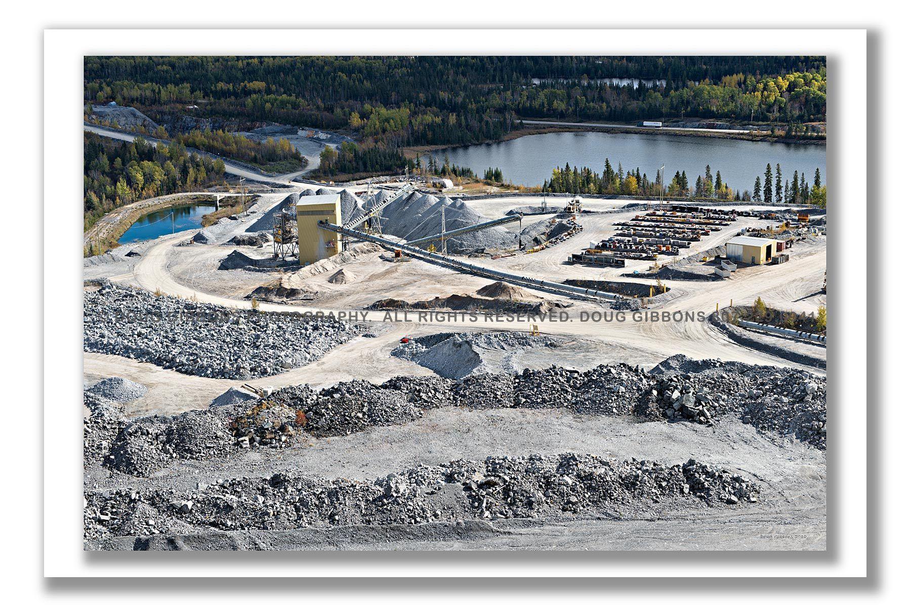 Rock crushing at Williams Mine