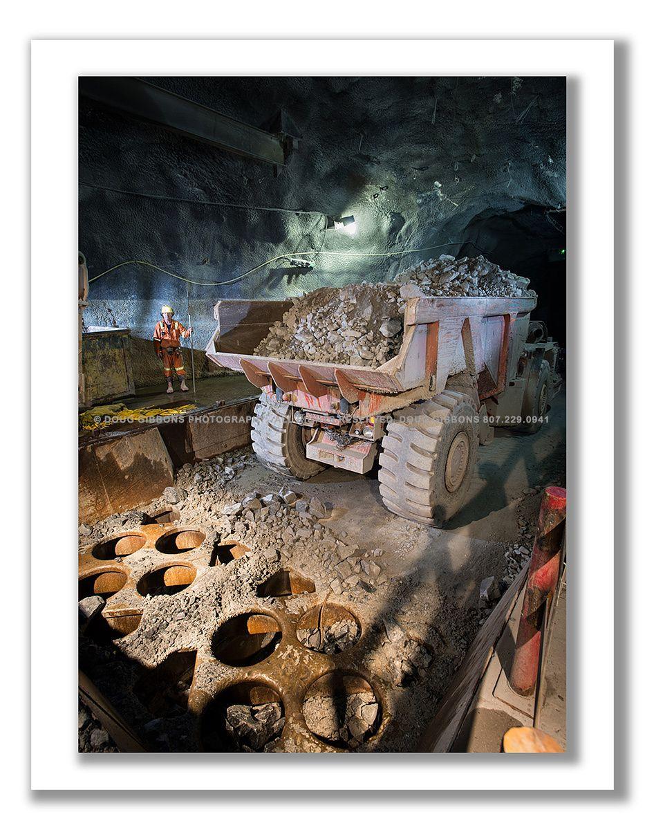 Under ground rock crushing station