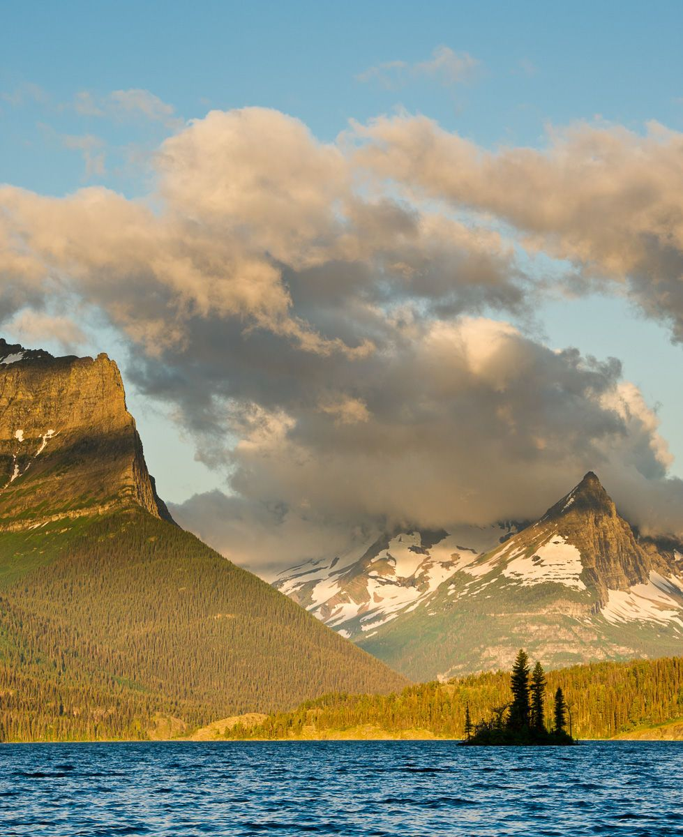 Early Morning Light on Wild Goose Island, Saint Mary Lake