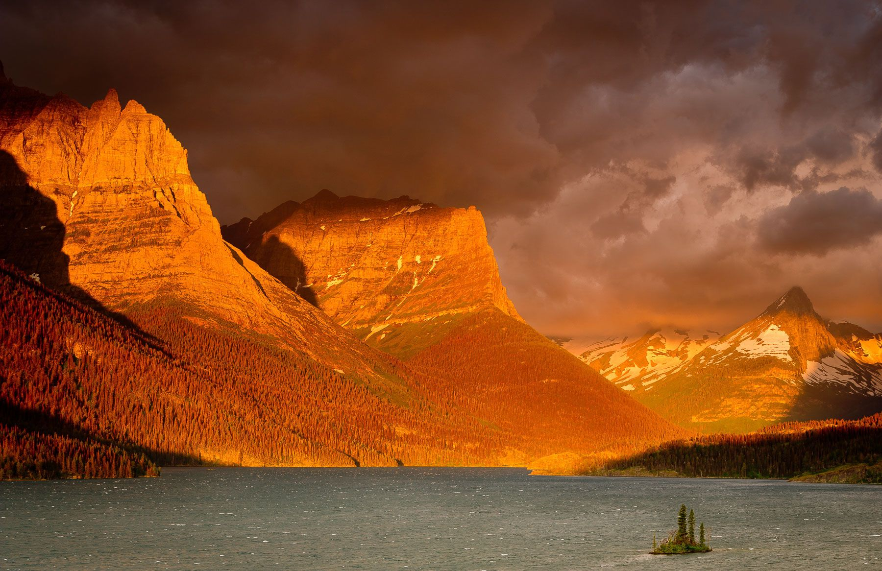 Stormy Sunrise over Saint Mary Lake
