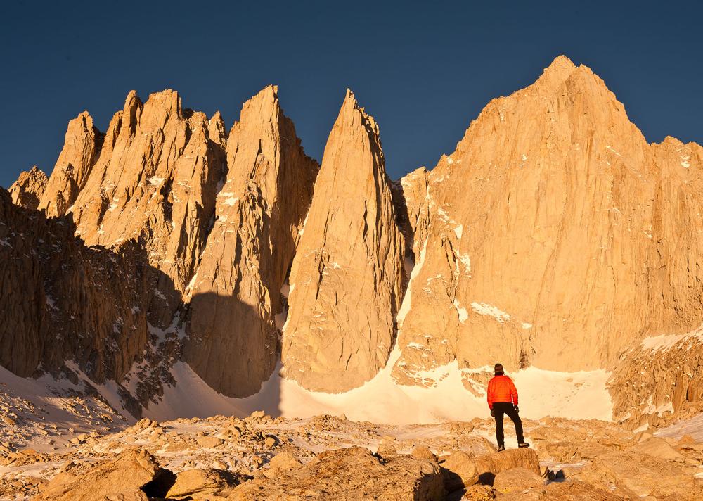 Climber Enjoying Early Morning Alpenglow