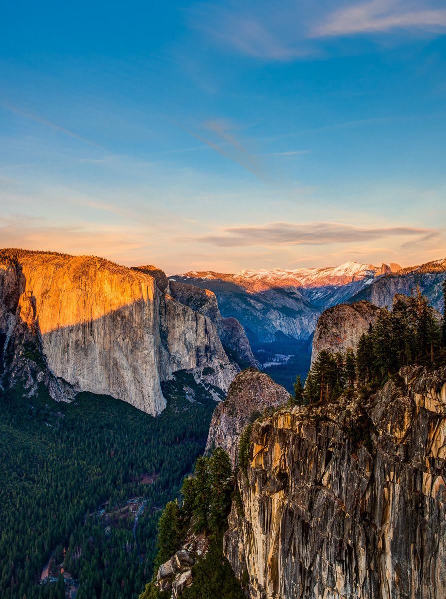 El Capitan and Yosemite Valley at Sunset from Canyon Rim