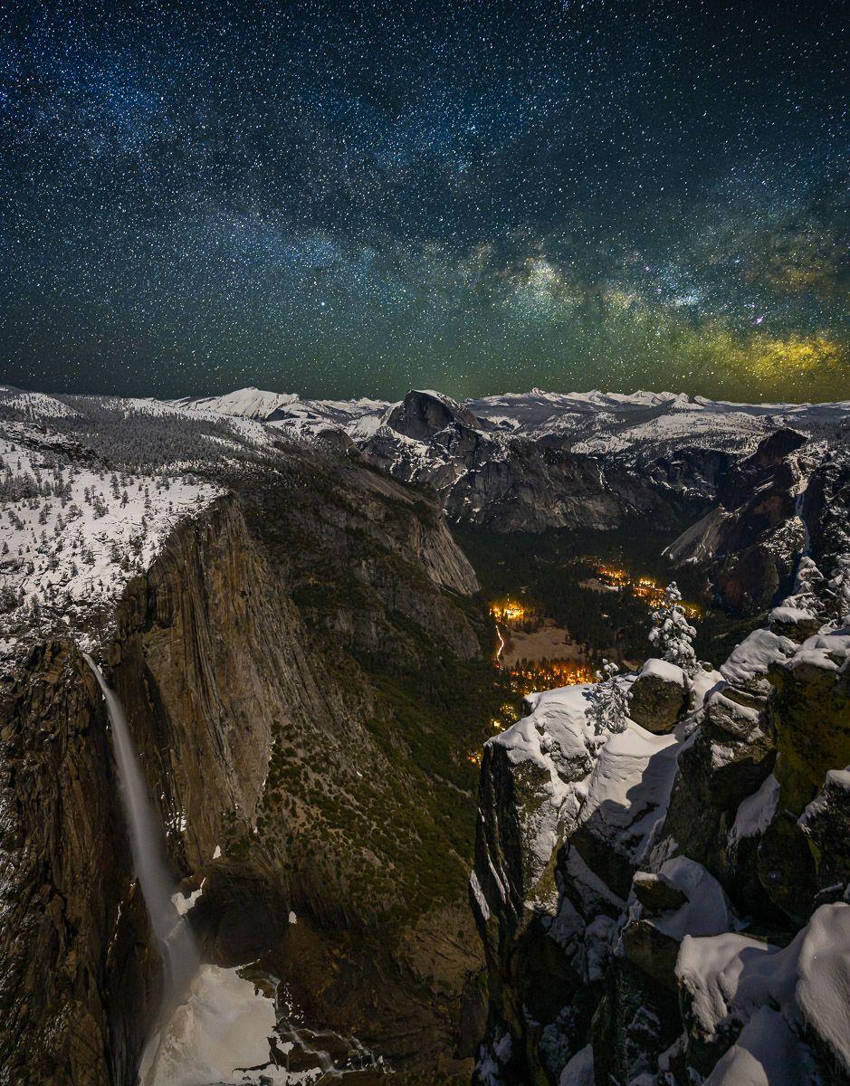 Milky Way over Yosemite Valley