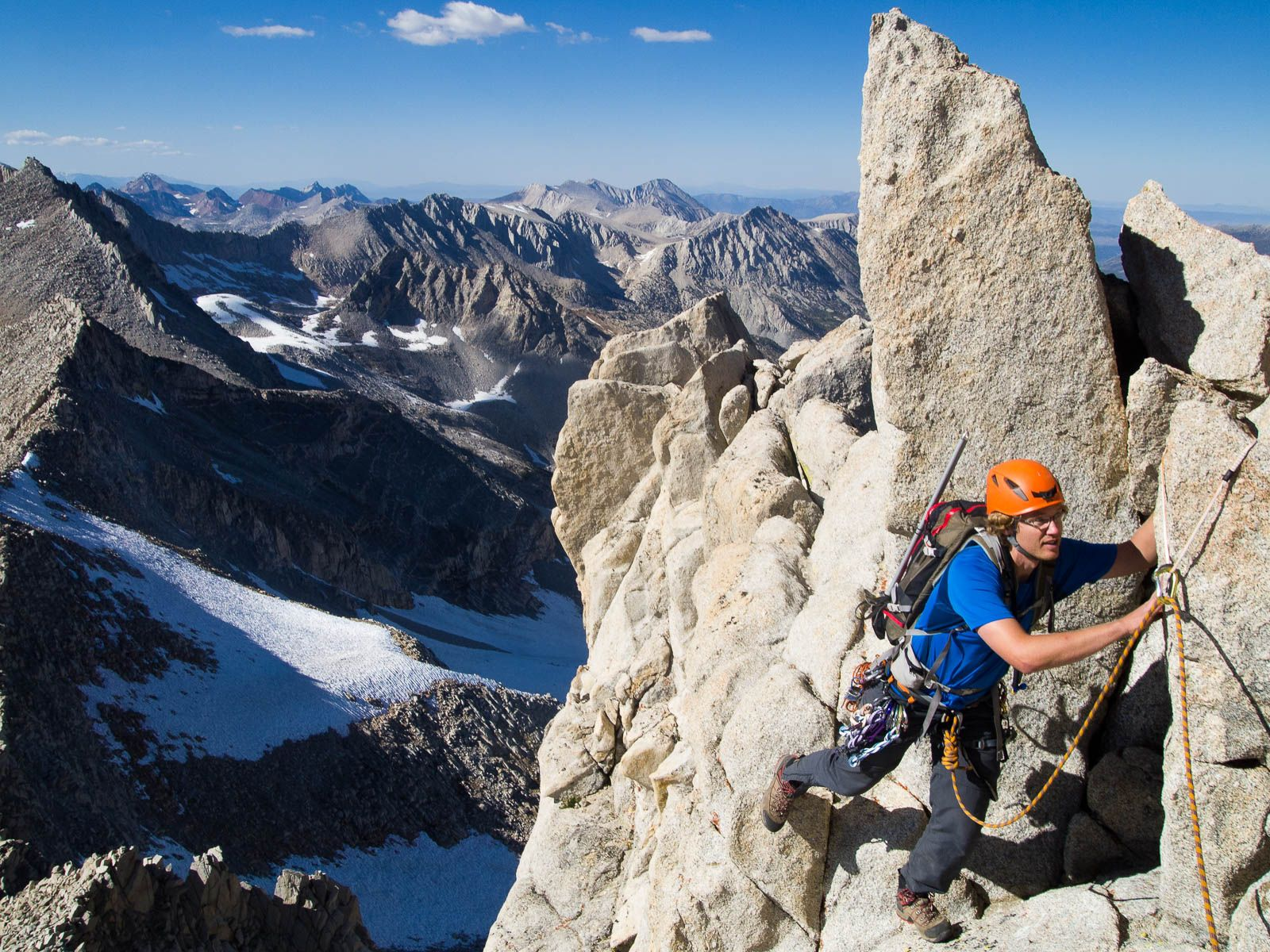 Climber on Bear Creek Spire