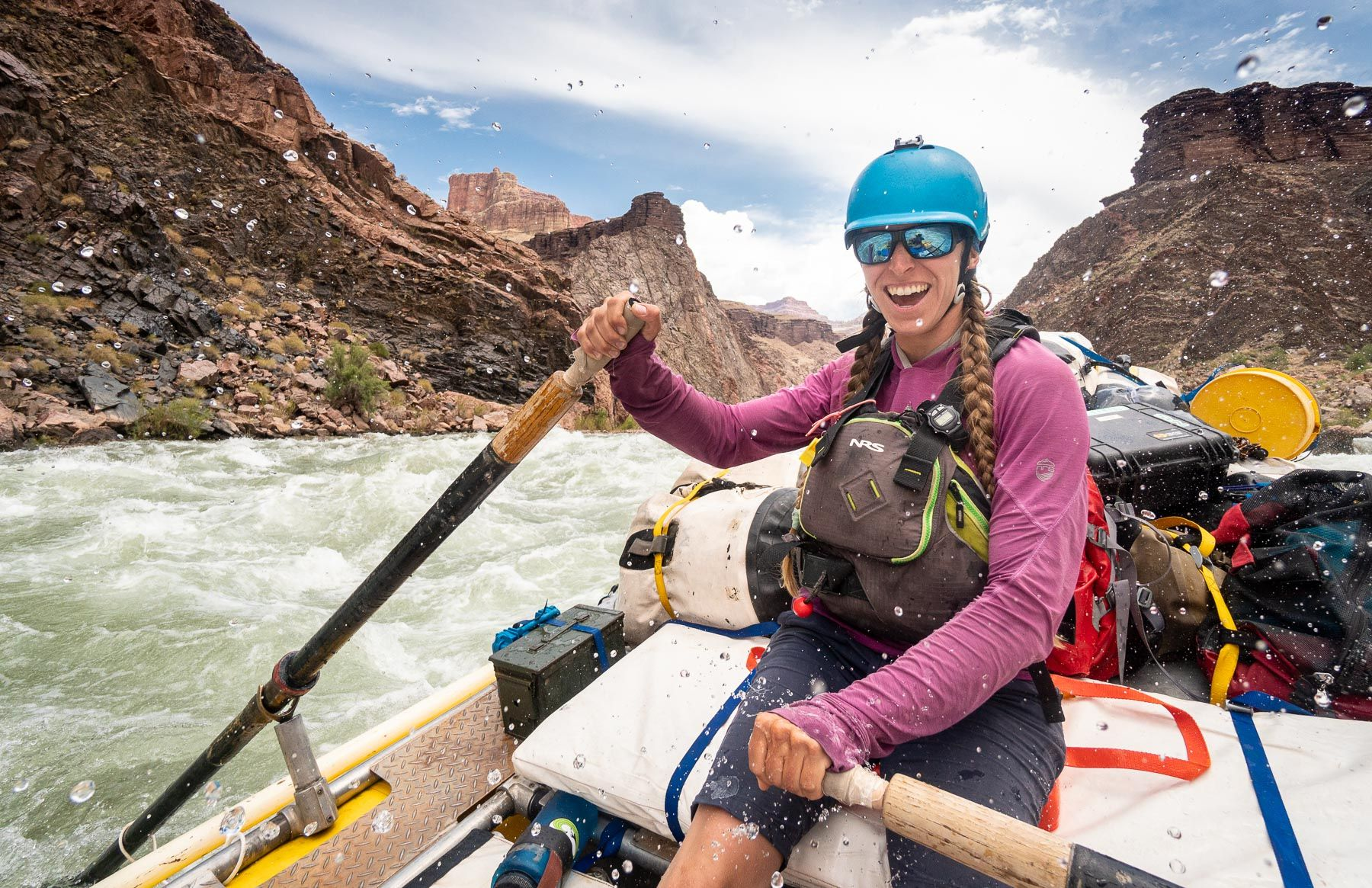 Women rafting the Colorado River