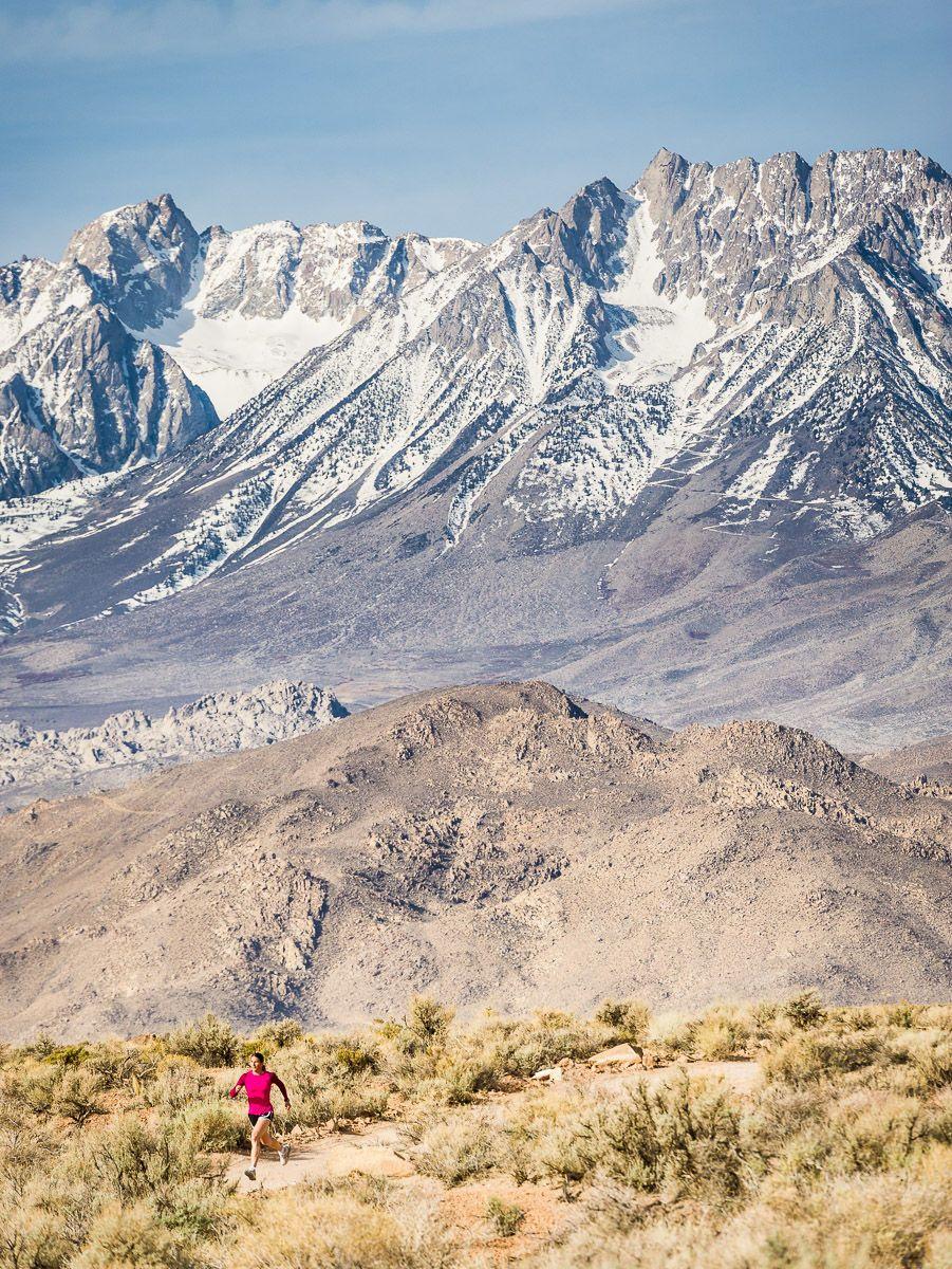 Woman Trail Running in Eastern Sierra