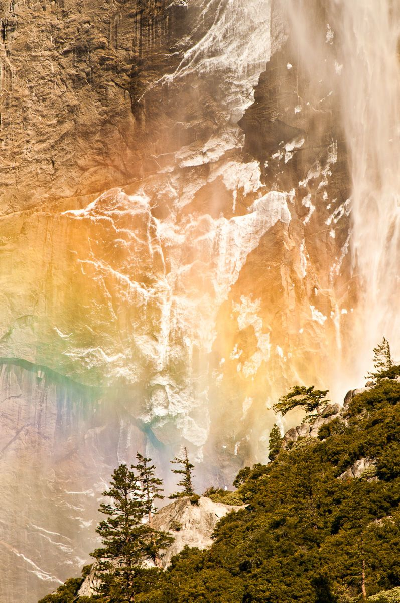 Winter Rainbow and Yosemite Falls