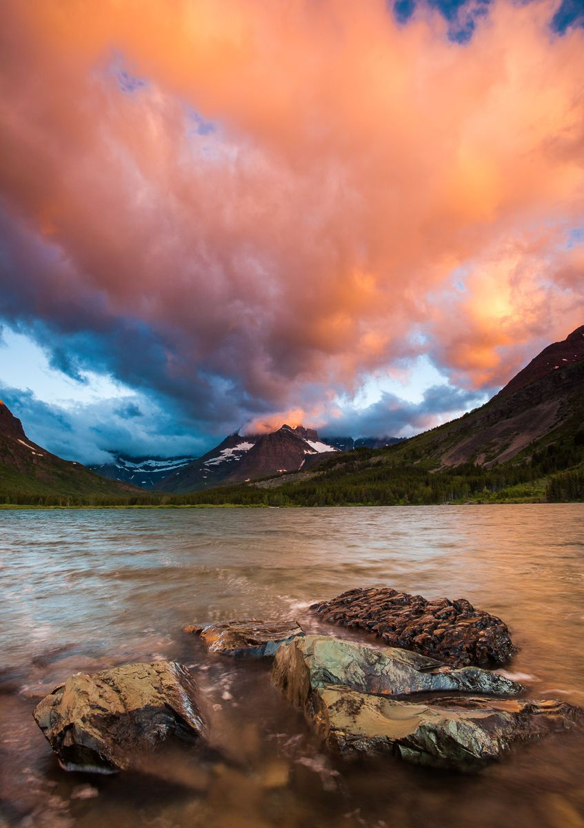 Stormy Sunrise over Swift Current Lake