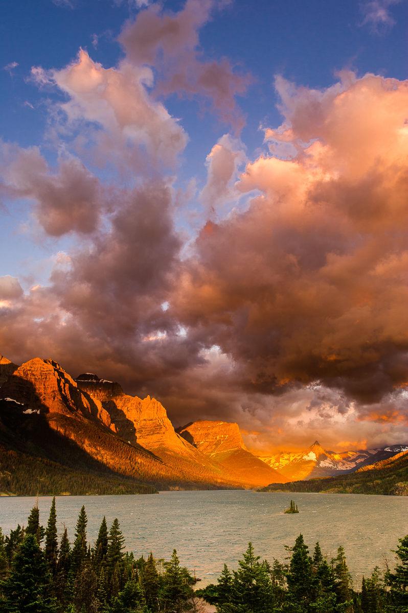 Stormy Sunrise over Saint Mary Lake