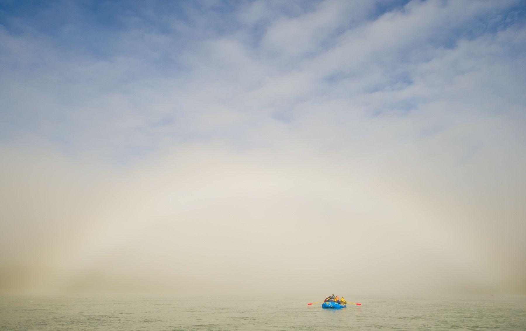 Rafting below Fogbow on Alsek River