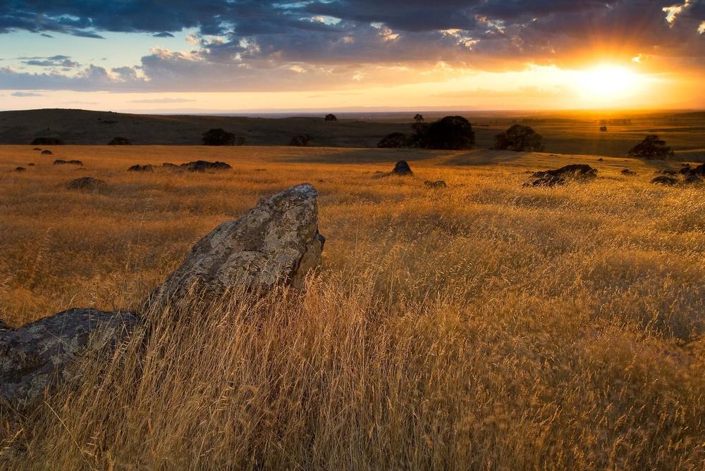 Sunset on Sacramento Valley from Spenceville Wildlife Refuge
