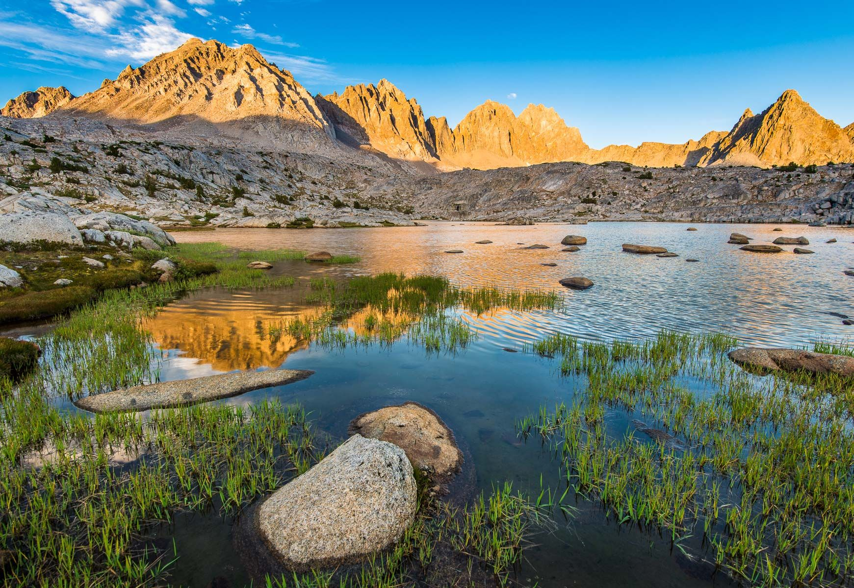 Palisades at Sunset from Dusy Basin