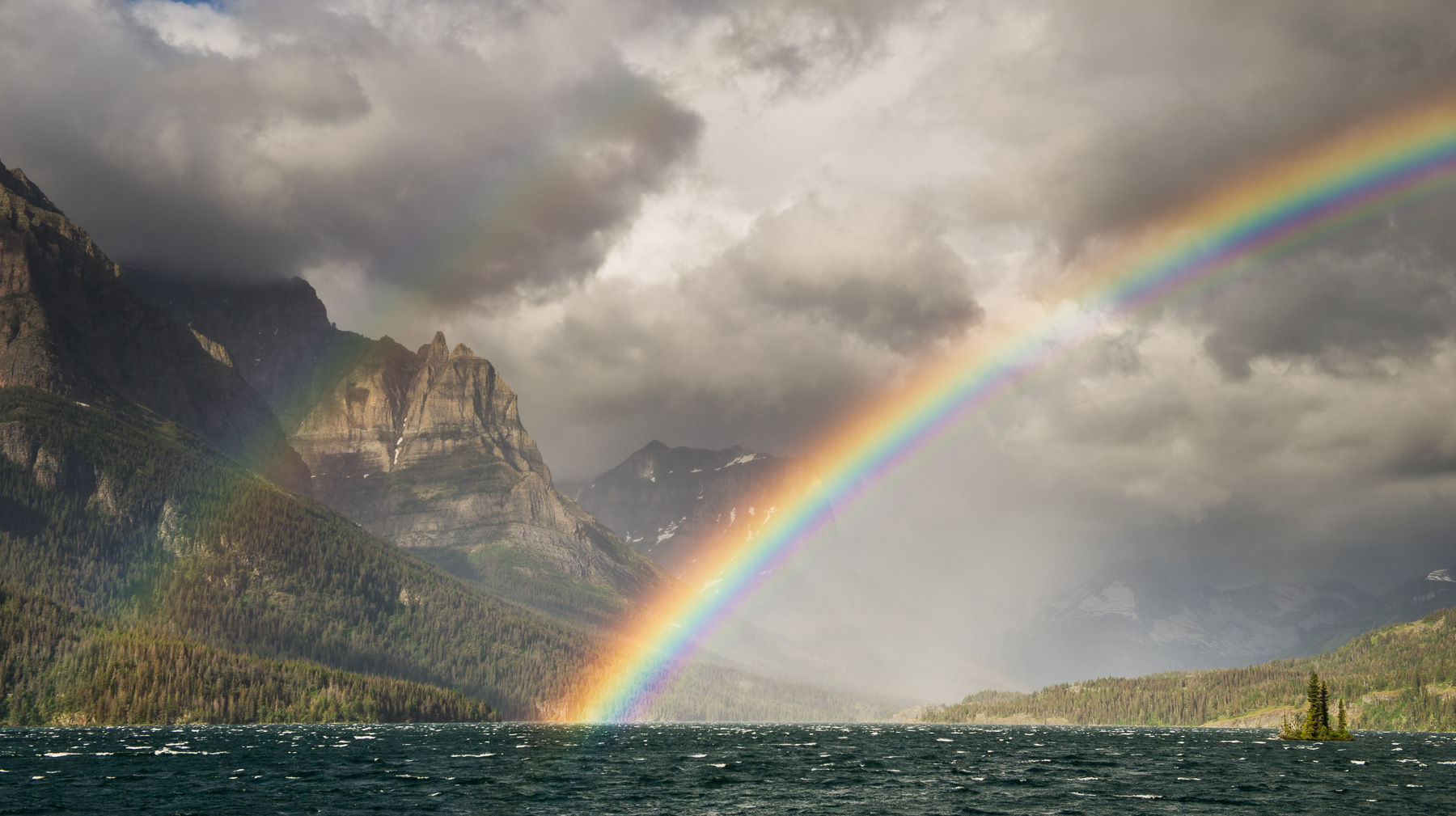Double Rainbow over Saint Mary Lake