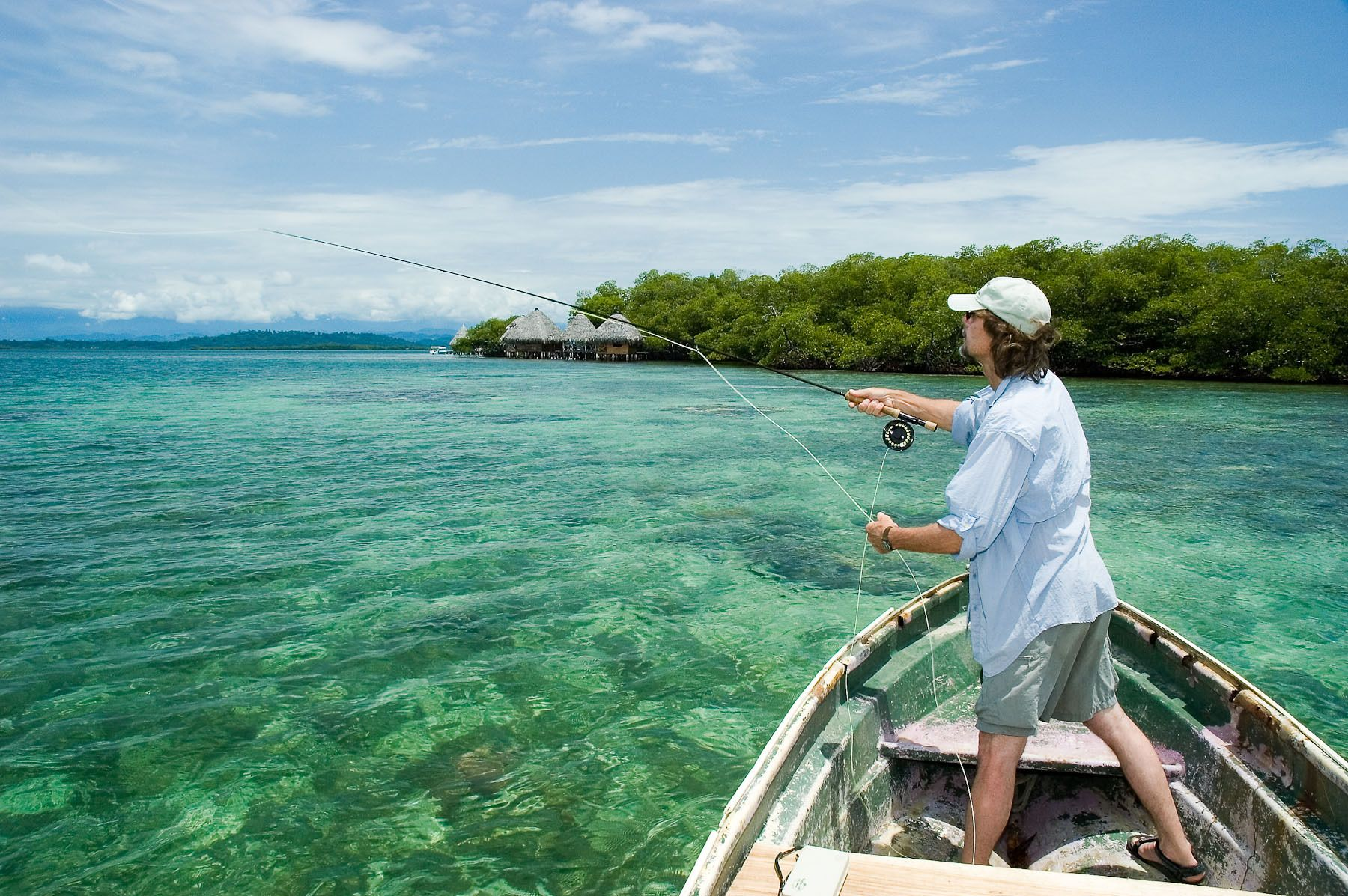 Fly Fishing over a Shallow Reef