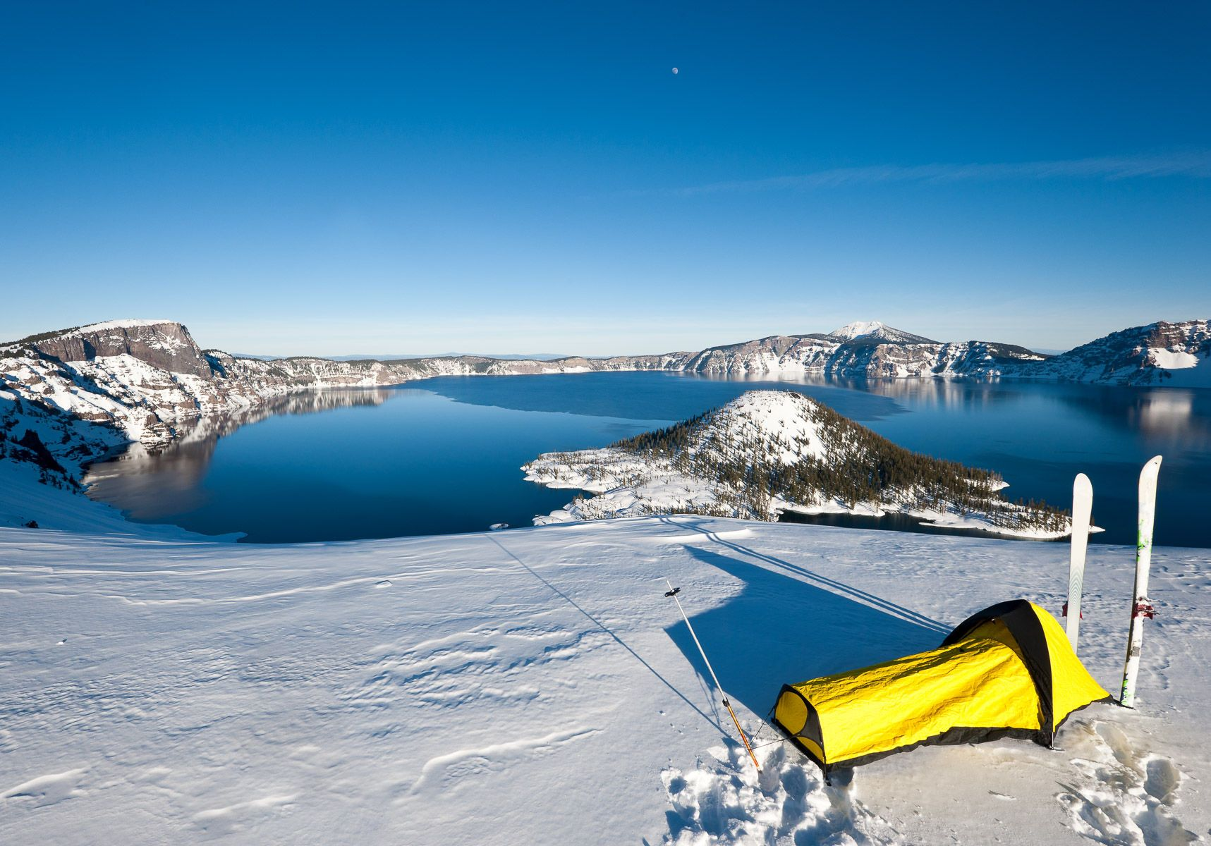 Winter Ski Camping at Crater Lake