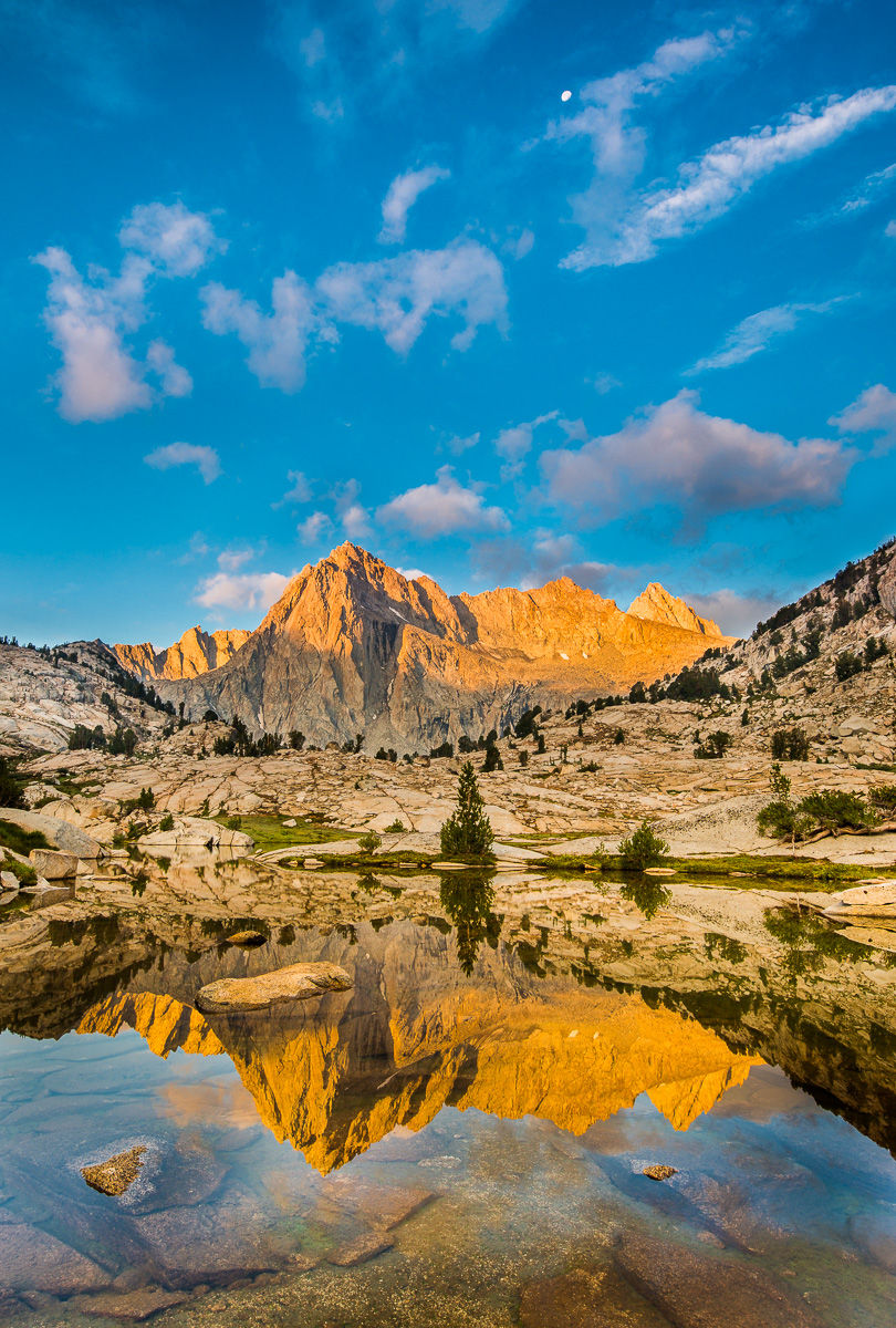 Picture Peak Reflected in Lake at Sunrise