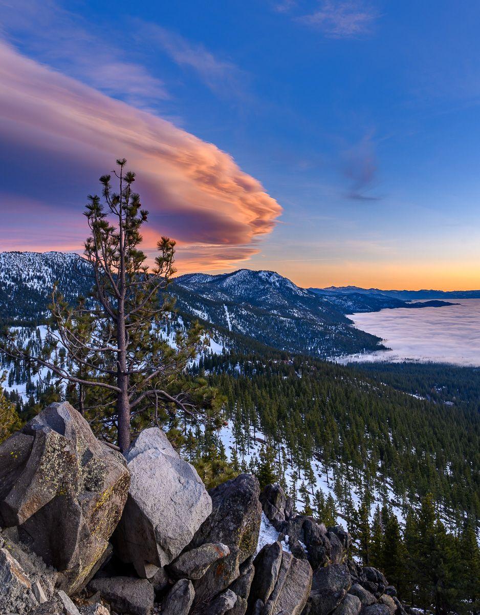 Lenticular Cloud over Lake Tahoe