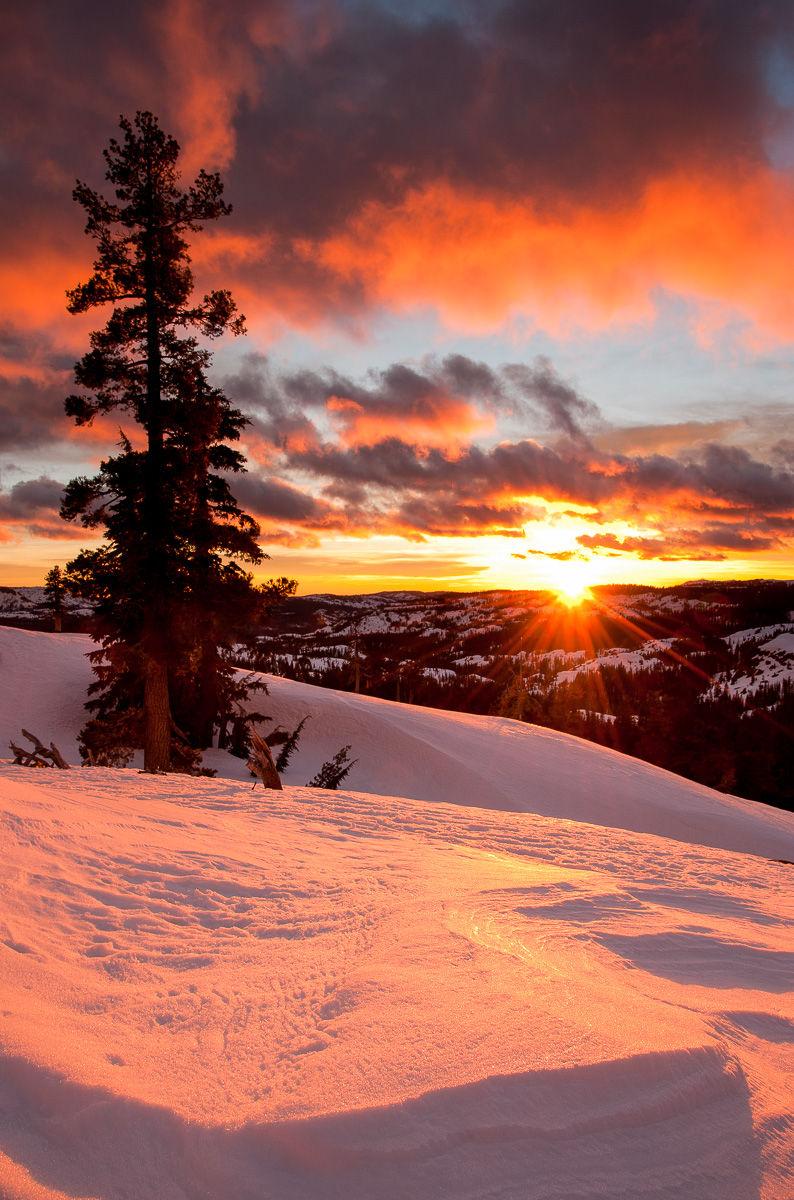 Winter Sunset on the Sierra Crest