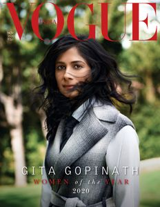 Woman of the Year, Gita Gopinath for Vogue @vogueindia! Photo by the fabulous John Huet @johnhuet ⁠ Styled by Taylor Greeley @tayglo⁠ Makeup and hair by Kacie Corbelle @kaciecorbelle ⁠ ⁠