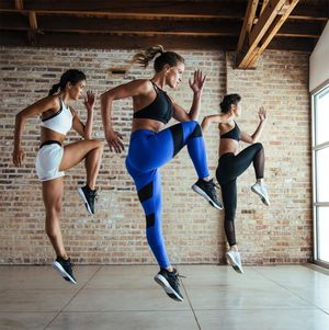 Styling by Evan Crothers, makeup and hair by Kacie Corbelle for Reebok Women.