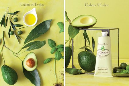 Prop styling by Beth Wickwire for Crabtree & Evelyn.