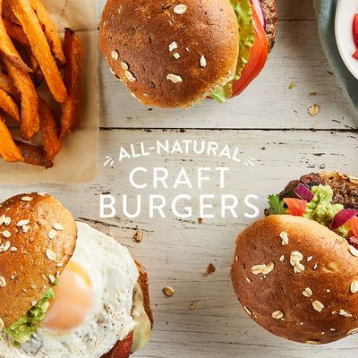 Prop styling by Erin Riley for Craft Burgers.