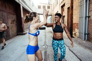 Makeup and hair by Kacie Corbelle, Styling by Evan Crothers for Reebok CrossFit.