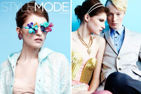 Makeup by Kristy Strate for Style Mode Magazine.  Photography by Lorenzo de Guia.