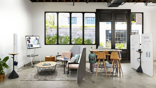 Interior and set styling by Lauren Niles for Steelcase.