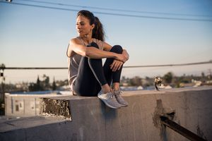Makeup and hair by Kristy Strate.  Styling by Samantha Swade  for New Balance.