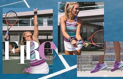 Prop and wardrobe styling by Alethia Weingarten. Makeup and hair by Laura Costa for New Balance.