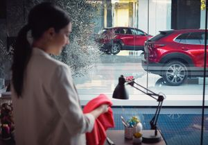 Wardrobe styling by Daria Maneche for Mazda.  Photography by Anton Watts.