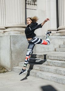 Makeup and hair by Kacie Corbelle for Reebok.