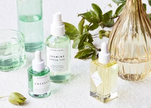 Cosmetics stying by Amy Lipnis for Herbivore. Photography by William Geddes.