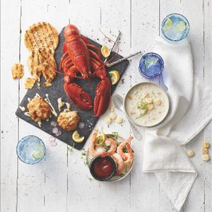 Prop Styling by Lauren Niles for Legal Seafood. Food Styling by Monica Mariano. Photography by Paul Saraceno.