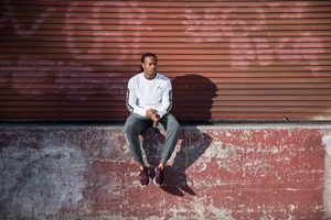 Wardrobe styling by Samantha Swade. Grooming by Kristy Strate for New Balance.