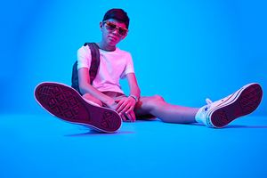Kids grooming by Kacie Corbelle for Converse.