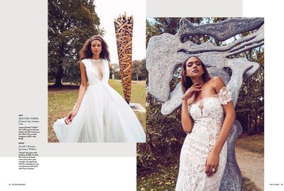 Makeup and hair by Kacie Corbelle. Wardrobe styling by Taylor Greeley for Boston Wedding magazine.