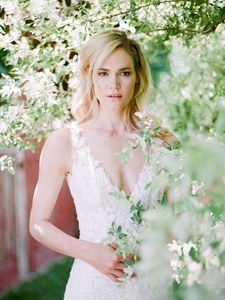 Hair styling by Mel Paldino for Anne Barge Bridal Collection.