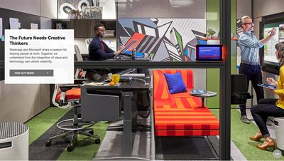 Prop styling by Lauren Niles, Wardrobe by Evan Crothers, makeup and hair by Kristy Strate for Steelcase.