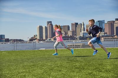 Kids grooming by Lori Greene, stying by Vincent Russo for Saucony.