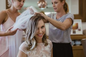 sydney makeup artist - applying the veil