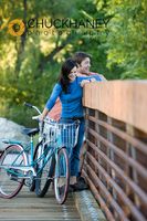 Couple Enjoying Leisurely Ride on Cruiser Bicycles