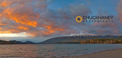 Whitefish Lake Sunset Panoramic