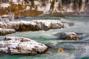 Kootenai Falls in Winter